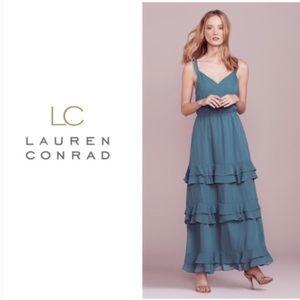 LAUREN CONRAD • dreamy slate blue bridesmaid dress